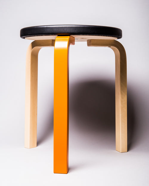 Artek Stool 60 Birch/Orange 2