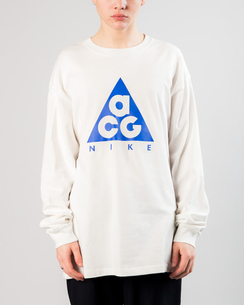 ACG LS Logo Tee Summit White/Racer Blue 1