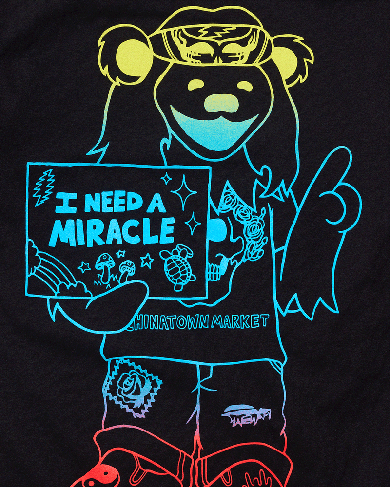 Grateful Dead Miracle Hippie Gradient Tee Black