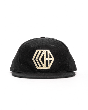 6-Panel Wool Logo Cap Black 1