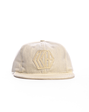 6-Panel Wool Logo Cap Cream 1