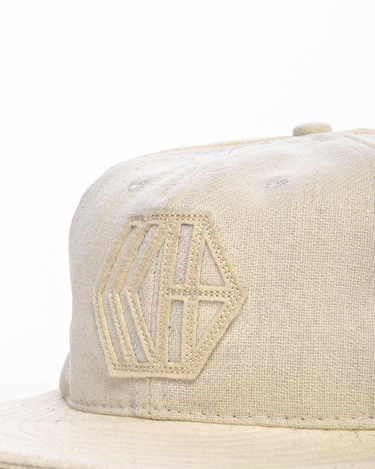 6-Panel Wool Logo Cap Cream 2