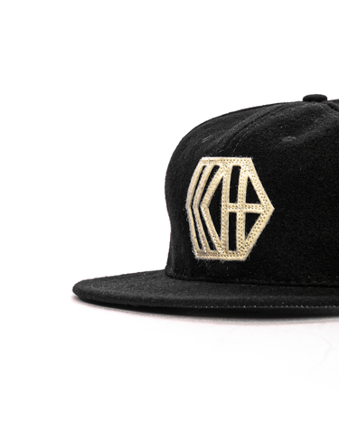 6-Panel Wool Logo Cap Black 2