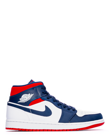 Air Jordan 1 Mid SE White/University Red/Midnight Navy 1