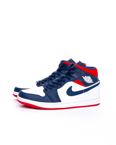Air Jordan 1 Mid SE White/University Red/Midnight Navy 2