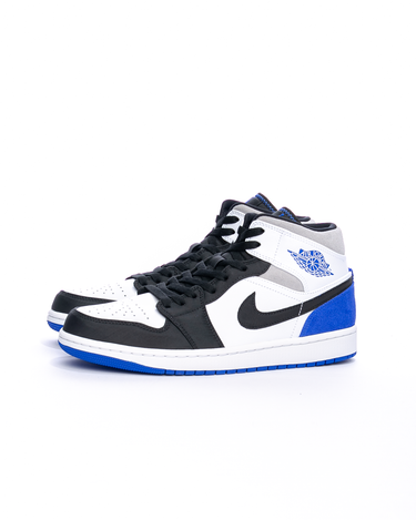 Air Jordan 1 Mid SE White/Hyper Royal/Black 2