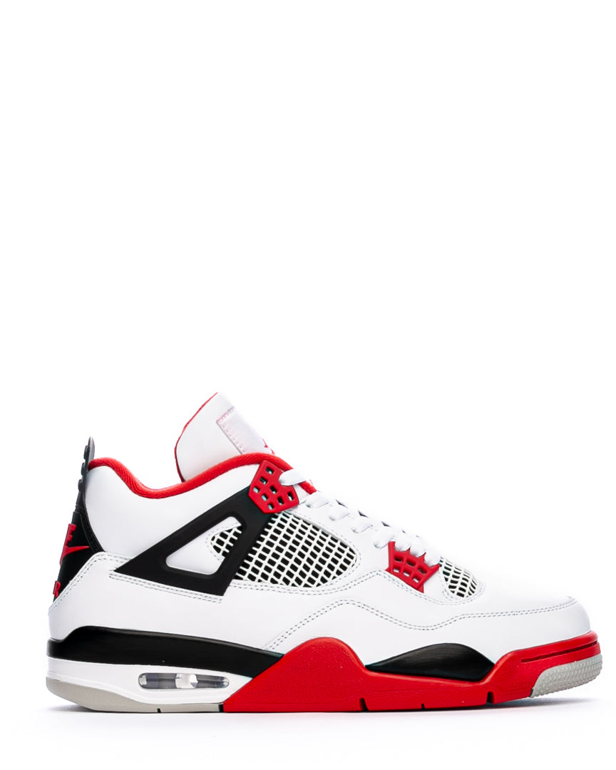 Air Jordan 4 Retro White/Fire Red/Black