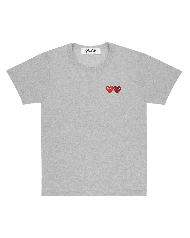 Double Heart T-Shirt Grey
