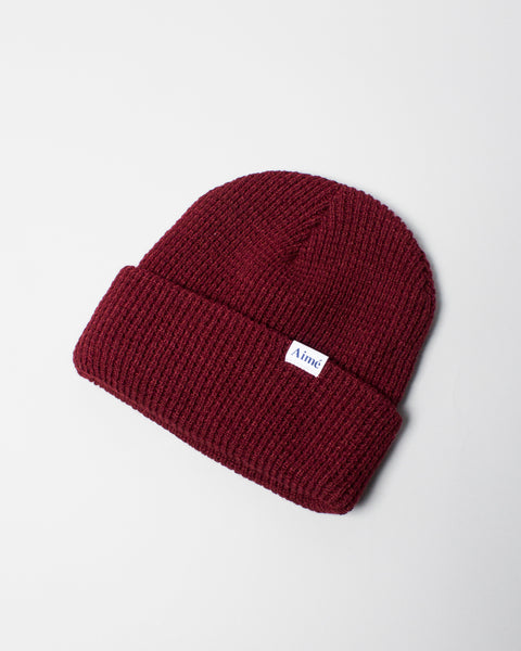Waffle Beanie Dark Red Aimé Leon Dore Mens Sneakers Seattle