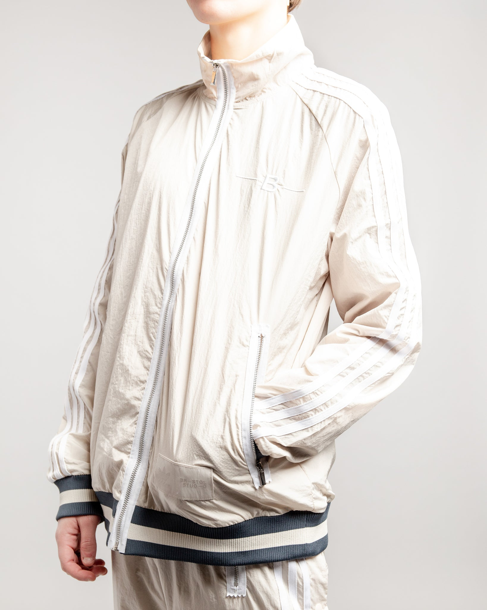 Bristol Studio Warm-Up Track Top Clear Brown