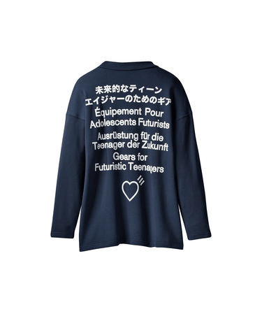 Human Made Graphic Sweatshirt Collegiate Navy 2