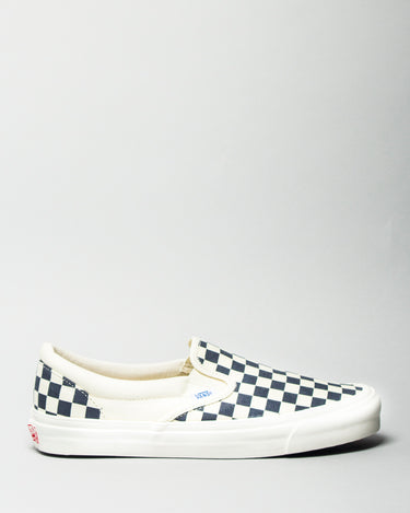 OG Classic Slip-on LX (Canvas) White/Navy Checkerboard 1