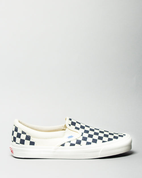 OG Classic Slip-on (Canvas) White/Navy Checkerboard 1