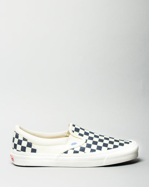 OG Classic Slip-on LX (Canvas) White/Navy Checkerboard