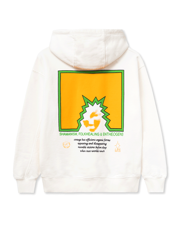 Folk Healing Hooded Sweatshirt White 2