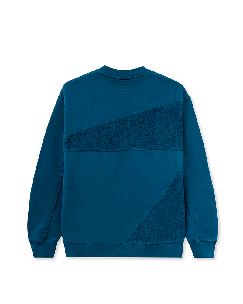 Sunflower Asymmetrical Paneled Crewneck Blue