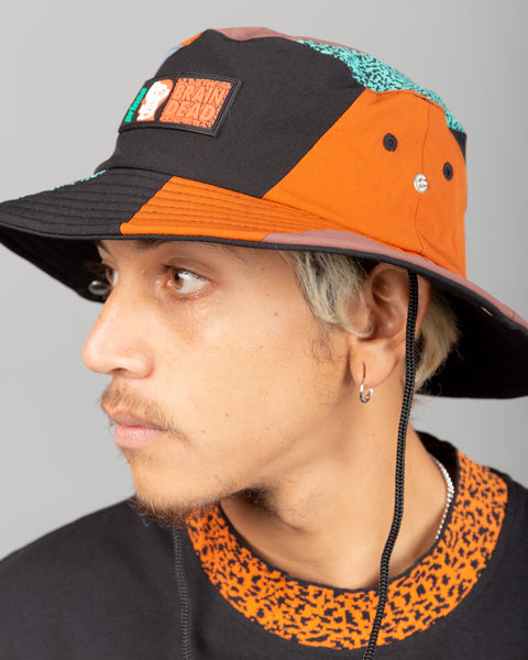 Prince Pieced Bucket Hat Black