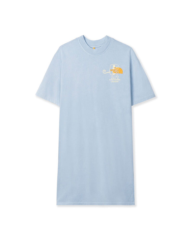 The North Face T-Shirt Dress Clear Lake Blue