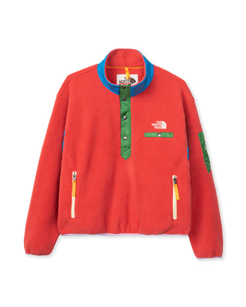 The North Face Placket Pullover Fleece Sunbaked Red