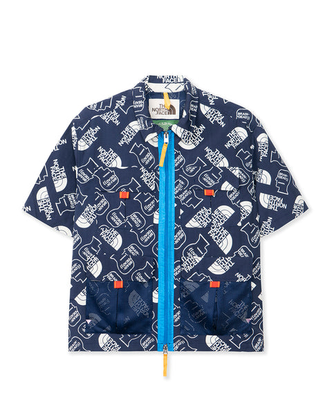 The North Face Boxy SS Mountain Shirt TNF Navy/Vintage White
