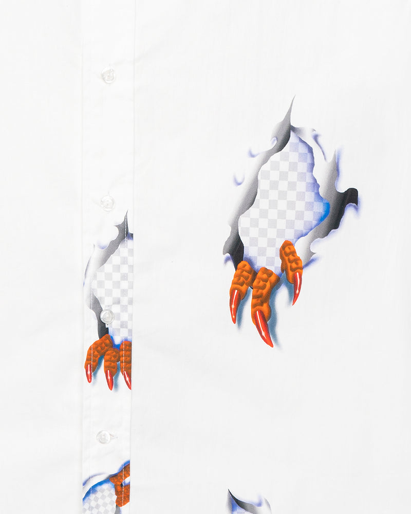 Claw Button Up Shirt White