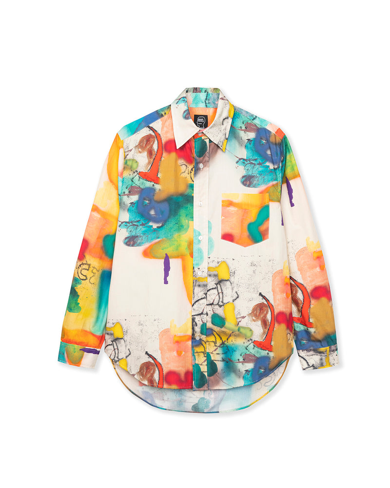 Horfee Poplin Button Up Shirt Multi