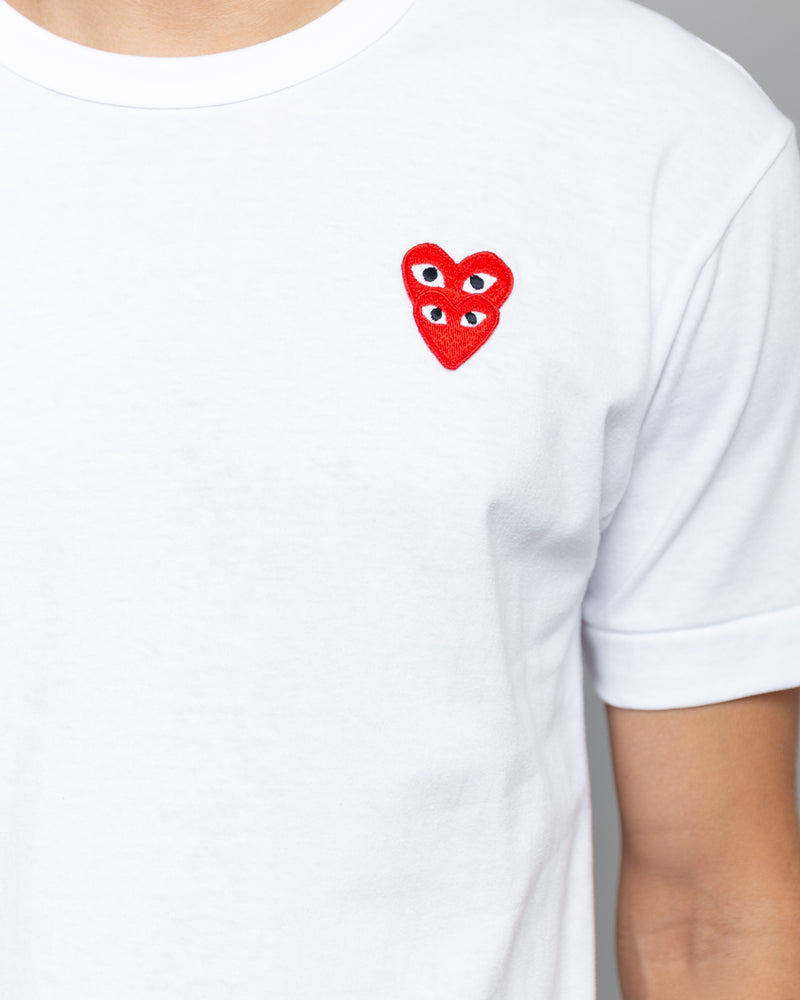 Stacked Heart T-Shirt White