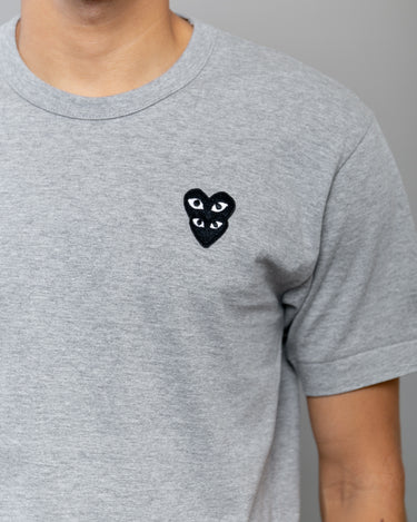 Stacked Heart T-Shirt Grey 2