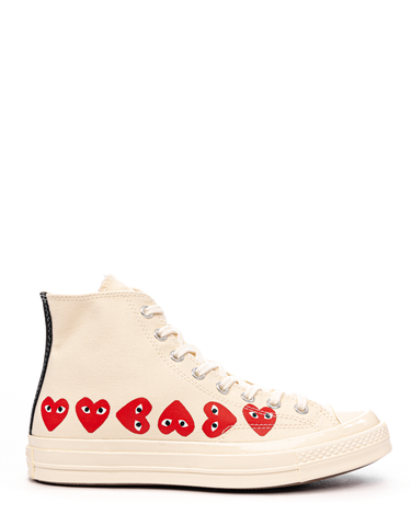 PLAY Multi Heart Chuck 70 HI White 1