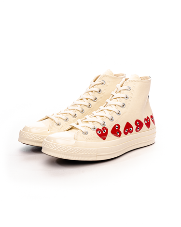 PLAY Multi Heart Chuck 70 HI White 2