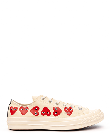 PLAY Multi Heart Chuck 70 Low White 1