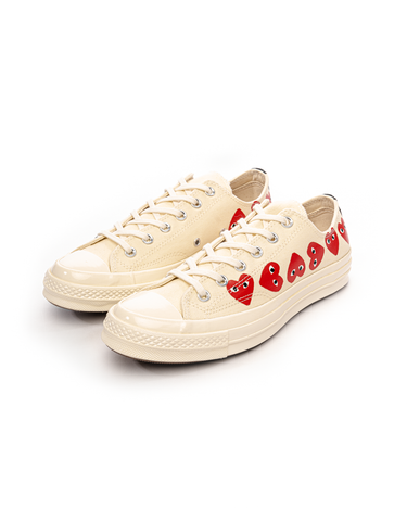 PLAY Multi Heart Chuck 70 Low White 2