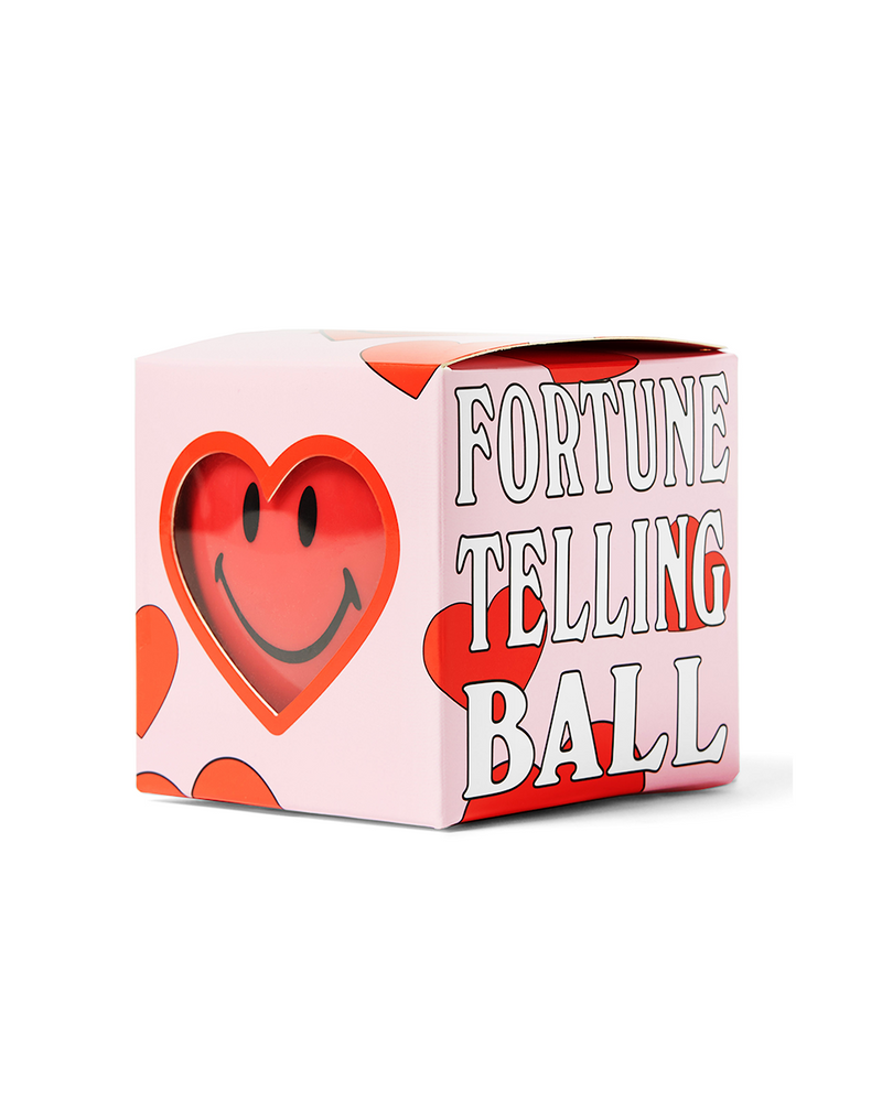 Smiley Love Fortune Telling Ball Pink