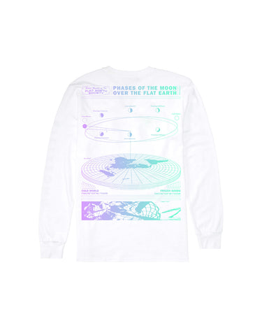 Flat Earth Long Sleeve White 2