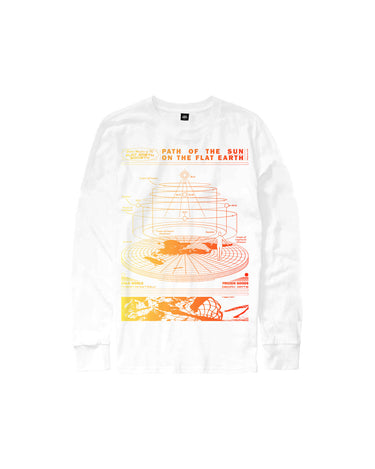 Flat Earth Long Sleeve White 1