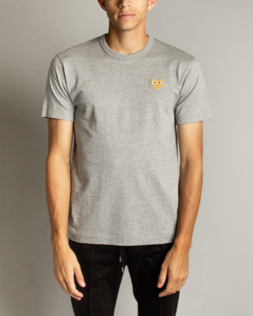 Color Series T-Shirt Gold Heart (Grey) 1
