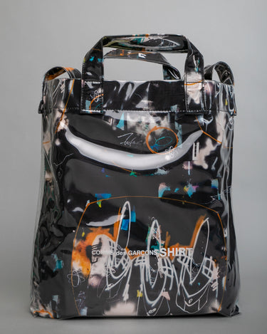Futura Print PVC Shoulder Bag Black 1