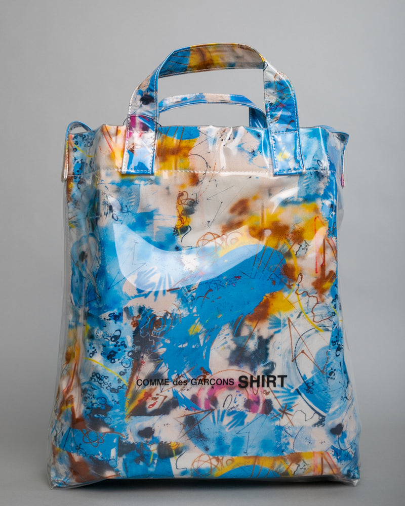Futura Print PVC Shoulder Bag Blue