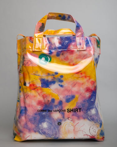 Futura Print PVC Shoulder Bag Yellow 1