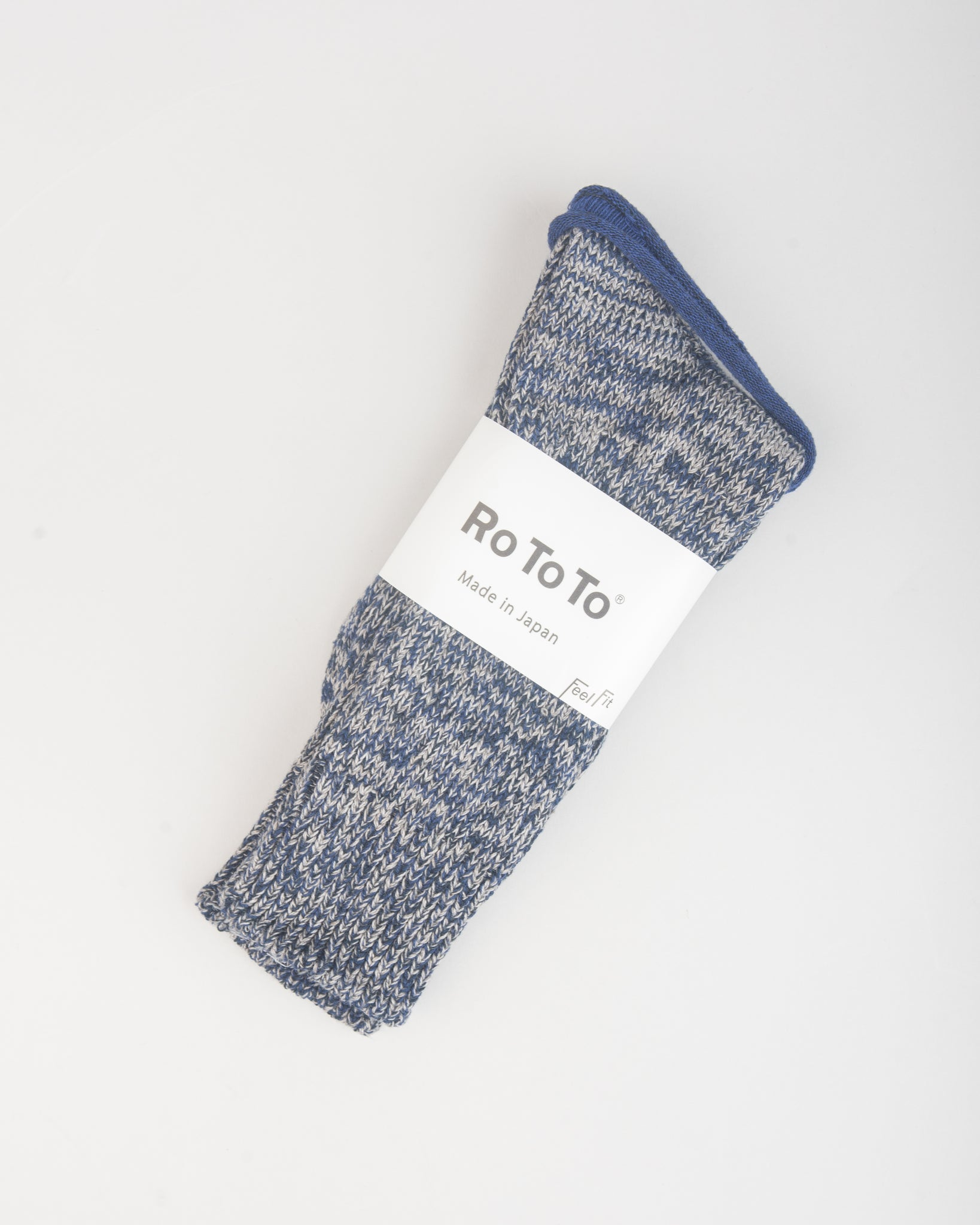 Denim Tone Crew Socks Grey Denim
