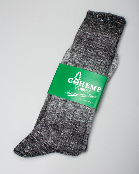 GO HEMP Splash Pattern Crew Sock Grey AnonymousIsm Mens Sneakers Seattle