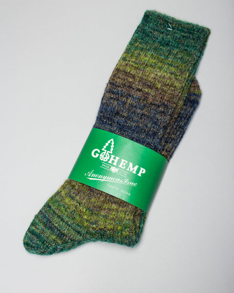 GO HEMP Splash Pattern Crew Sock Green AnonymousIsm Mens Sneakers Seattle