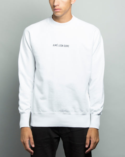 Crewneck Sweatshirt White Aimé Leon Dore Mens Sneakers Seattle