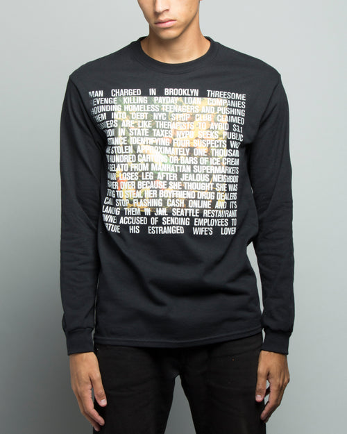 7 Deadly Sins LS Doulbe Print Tee Black 1