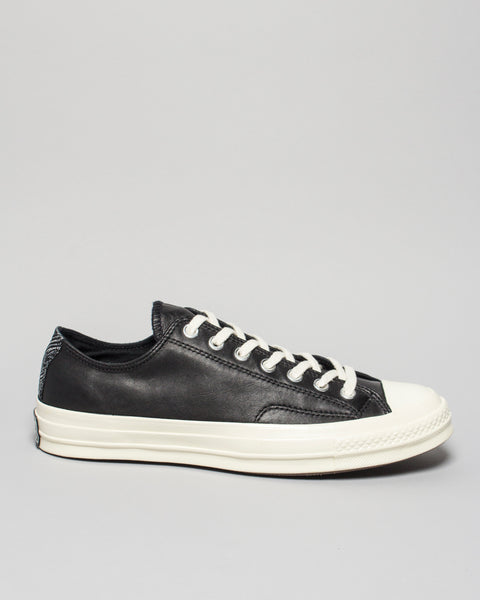 CTAS '70 Leather and Tapestry Low Black
