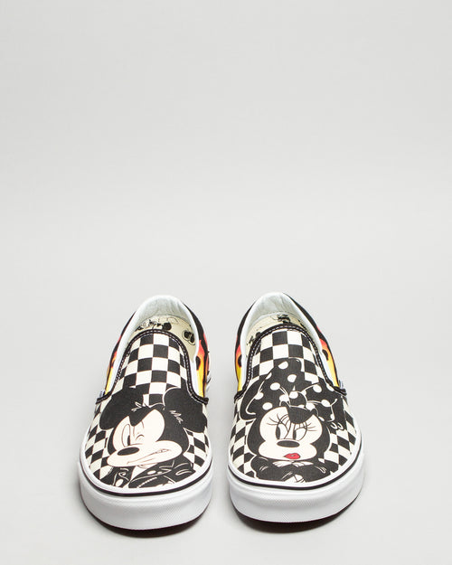 Disney Classic Slip-On Mickey & Minnie/Checker Flame 2