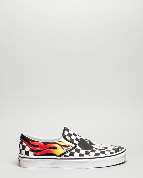 Disney Classic Slip-On Mickey & Minnie/Checker Flame 1