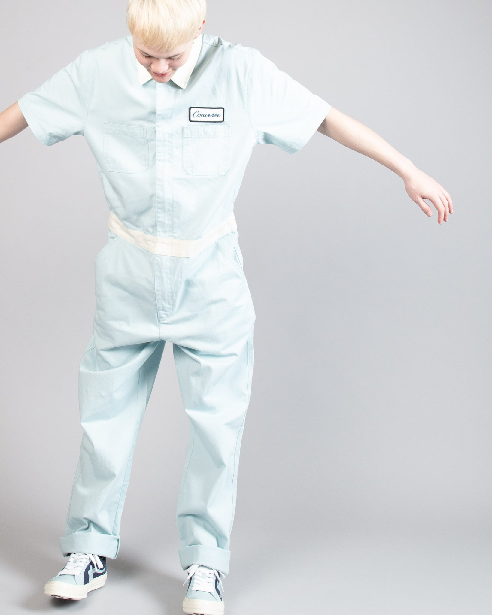 GOLF le FLEUR* Boiler Suit Bone/Light Blue