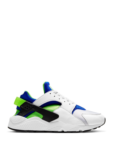 Air Huarache White/Scream Green/Royal Blue 1