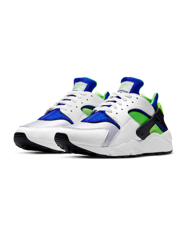 Air Huarache White/Scream Green/Royal Blue 2